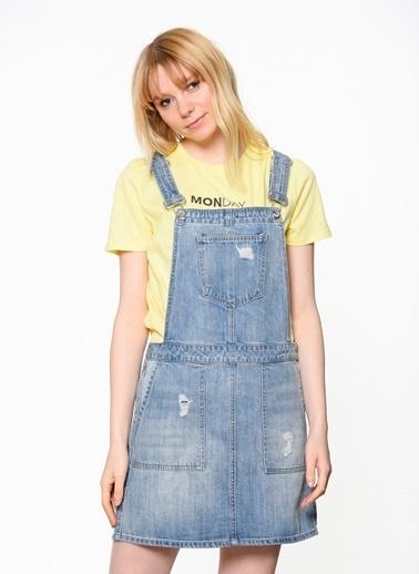 Vero Moda Mini Jean Elbise  Mavi